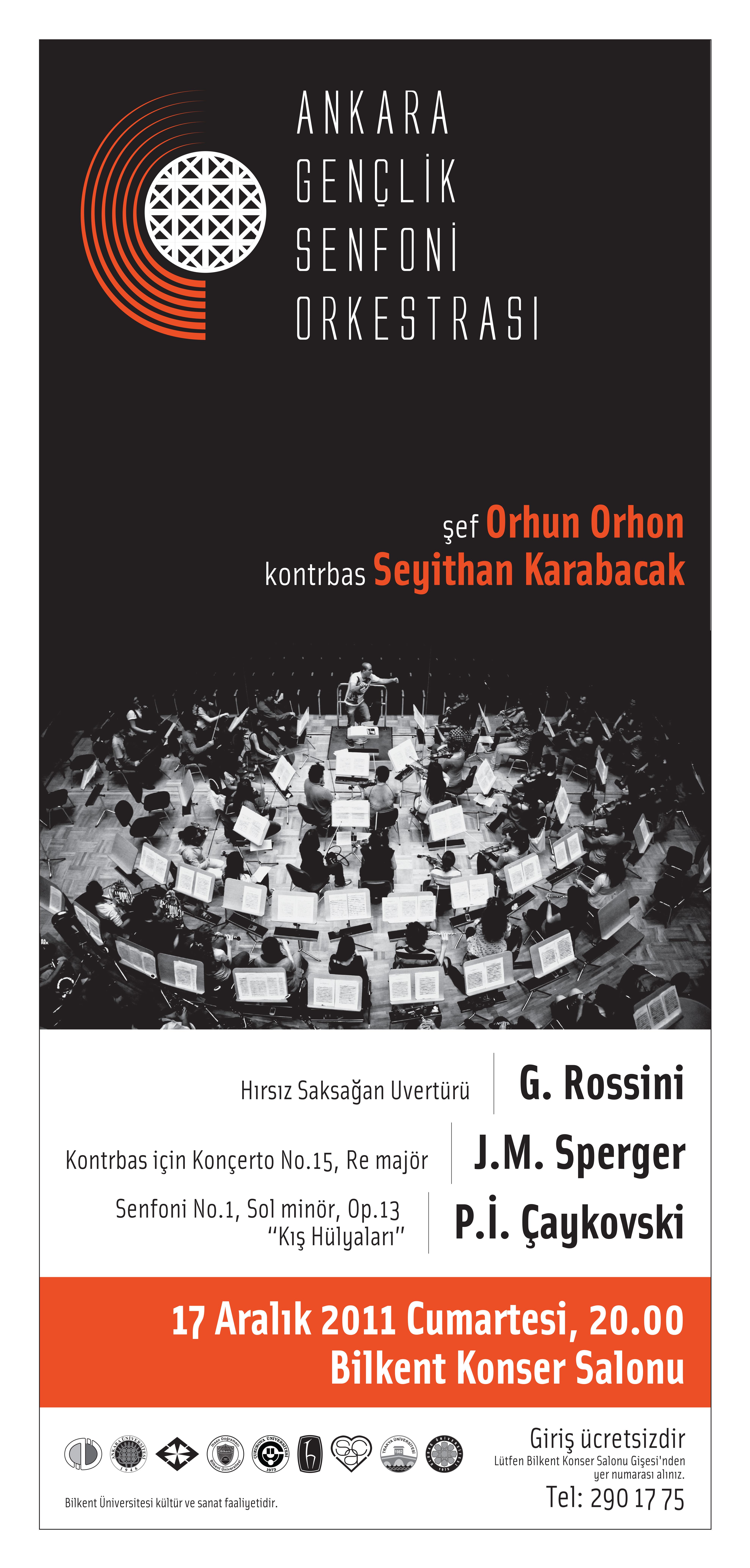 Ankara Gençlik Senfoni Orkestrası 17 Aralık 2011 Konseri Poster