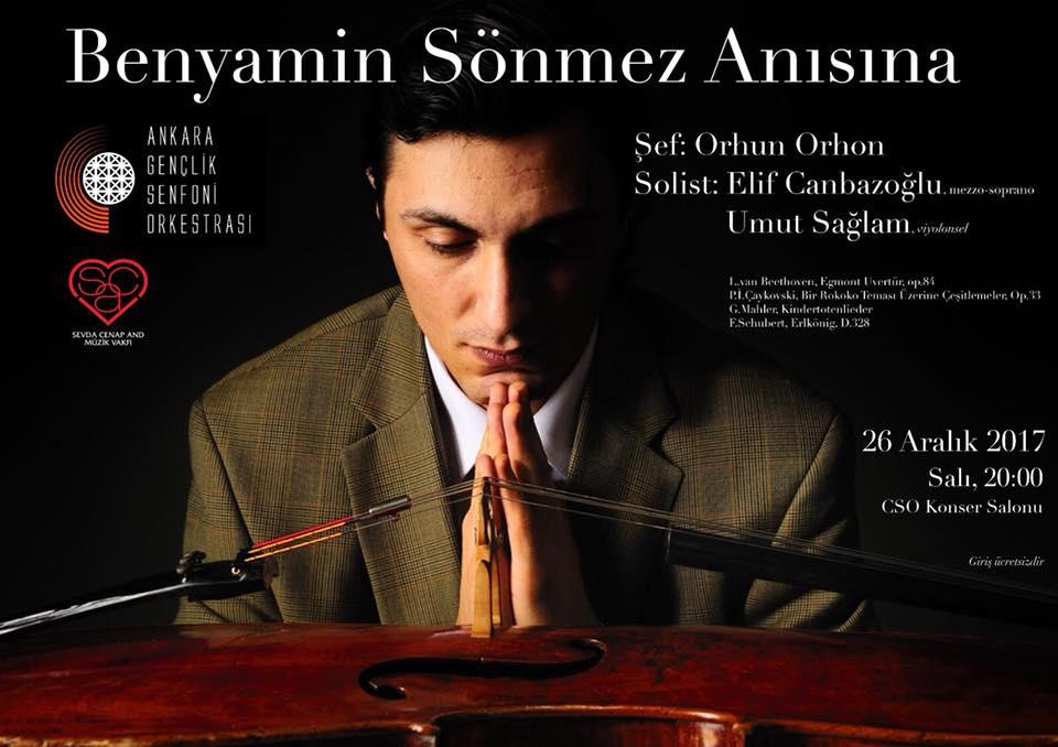 Ankara Gençlik Senfoni Orkestrası 26 Aralık 2017 Konseri Poster